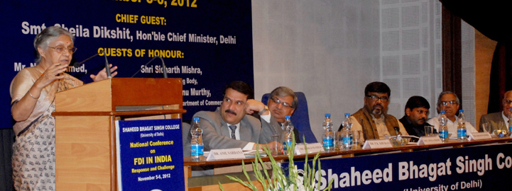 Seminar on FDI in retail organised by Shaheed Bhagat Singh College
