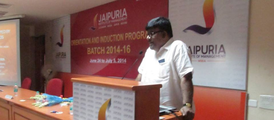 Interacting with would be managers, CRDJ president Sidharth Mishra has said that little efforts lead to small wins and they together lead you to greater goals. He was speaking on 27 June 2014 at the prestigious Jaipuria Institute of Management, Noida